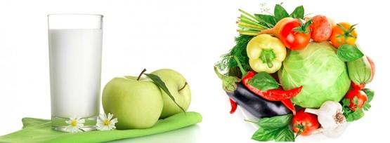 Разгрузочные дни на кефире и овощах