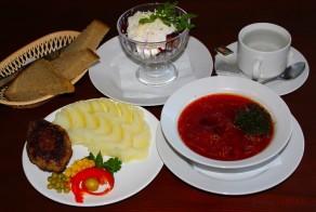 Правильный обед здорового питания