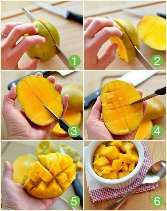 Чистим манго правильно