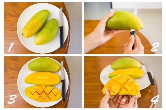 Чистим и режем манго